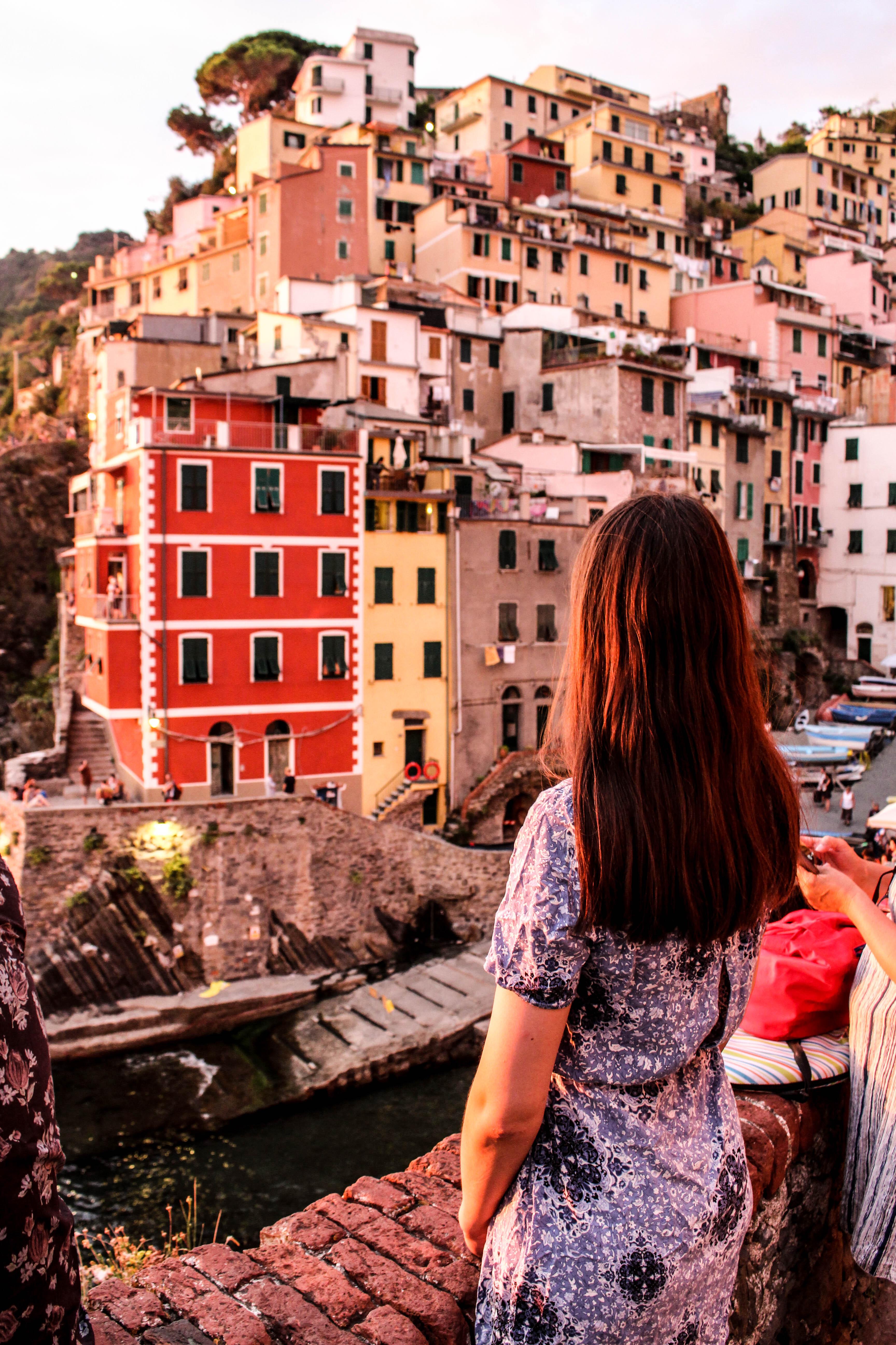 Riomaggiore Cinque terre Italy view