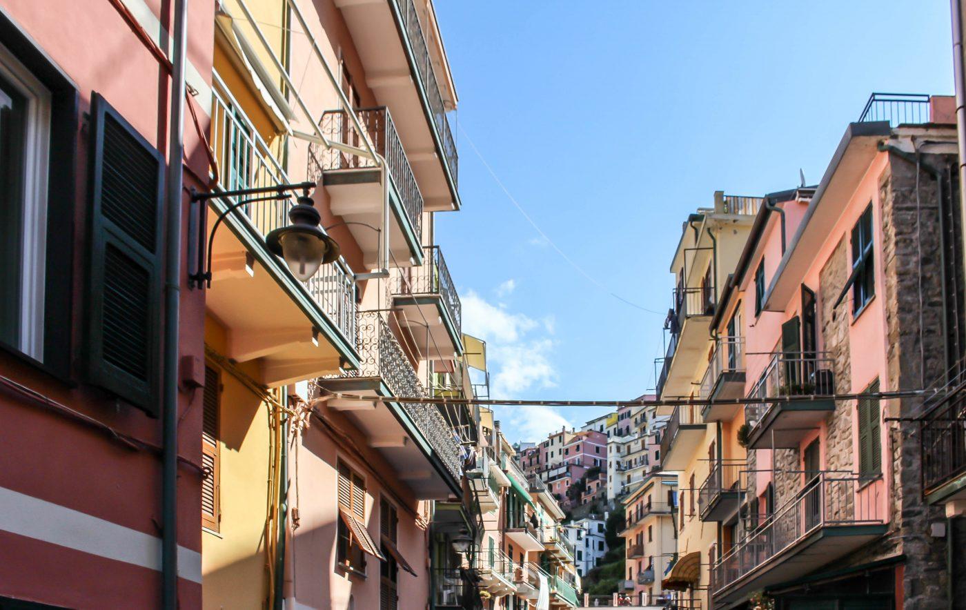 Manarola Cinque Terre street italy