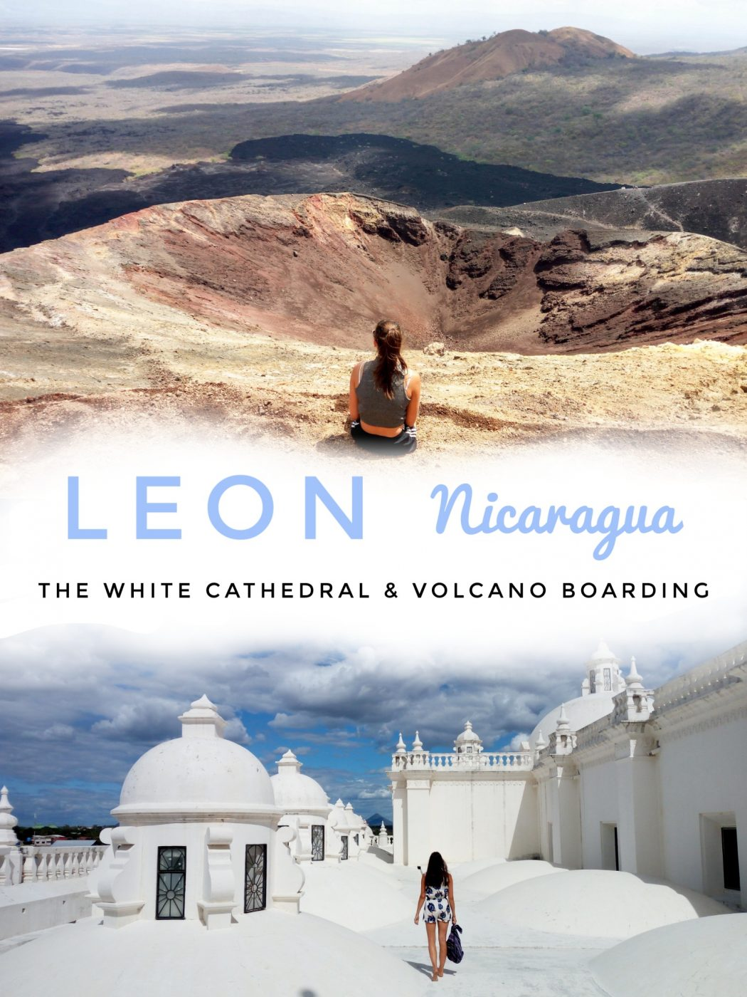 Two things not to miss out on in Leon, walk on top of a white cathedral and slide down the nearby volcano. Both, in one day if you want to.