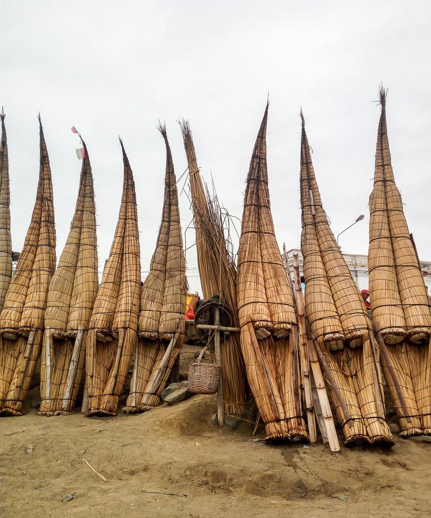 Totora boatsa Huanchaco things to do in Trujillo Peru