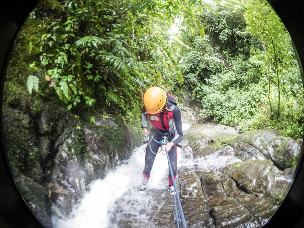 Things to do in Baños Canyoning waterfall extreme-sport Ecuador