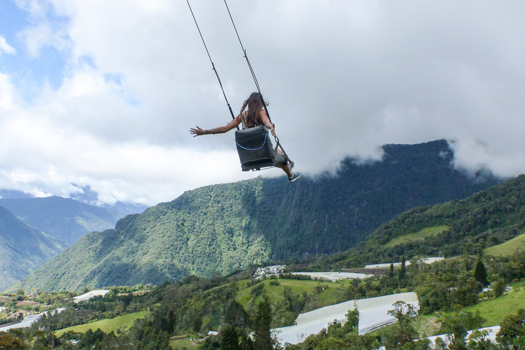 Top of the world swing Things to do in Baños Ecuador