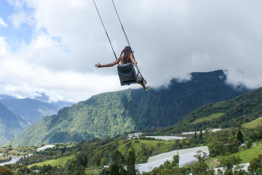Top of the world swing Baños Ecuador