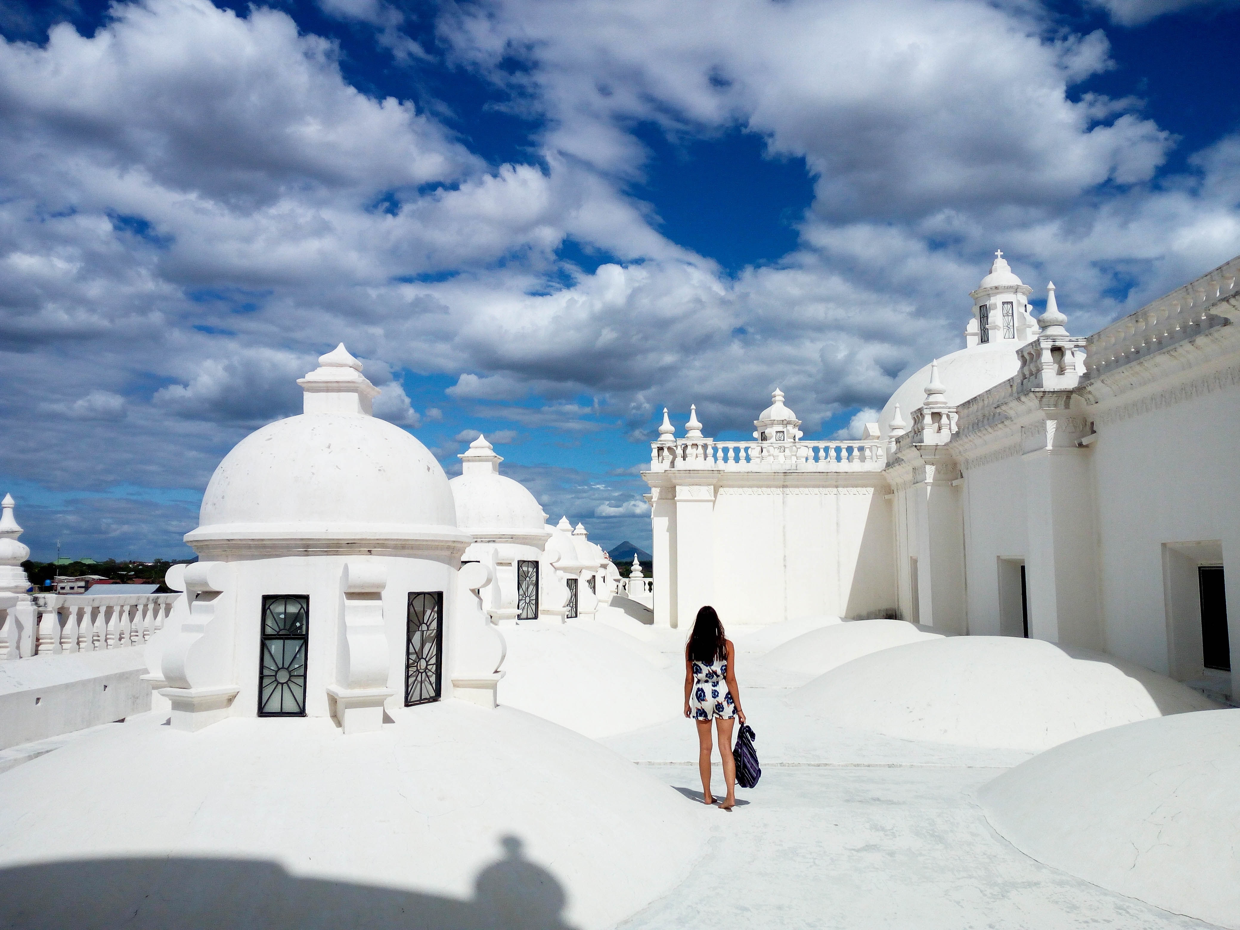 Things to do in Leon Nicaragua Vulcano Boading White Cathedral