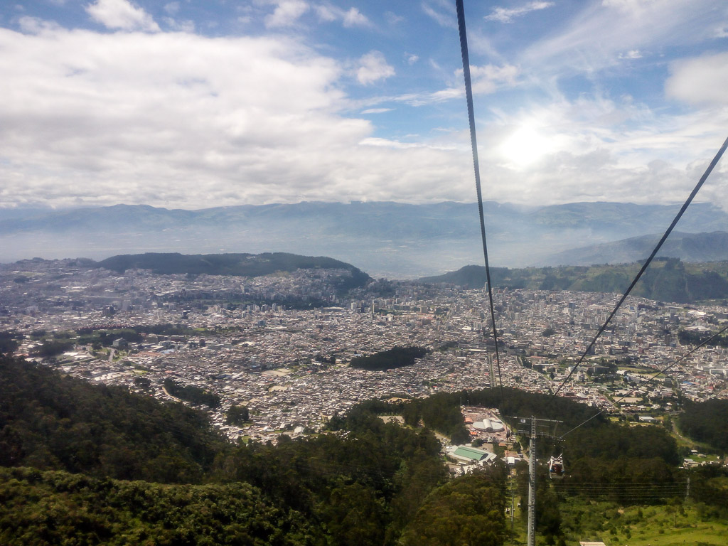 Teleferico view ecuador quito