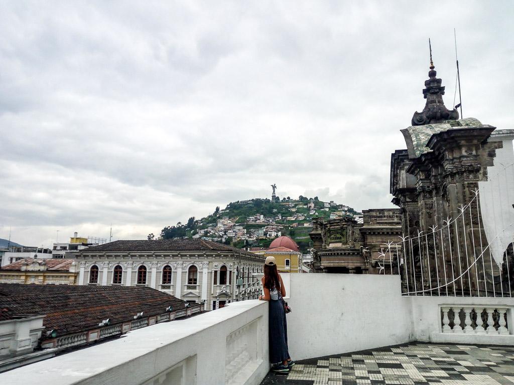 Virgin Mary statue Historic centre Quito Ecuador things to do