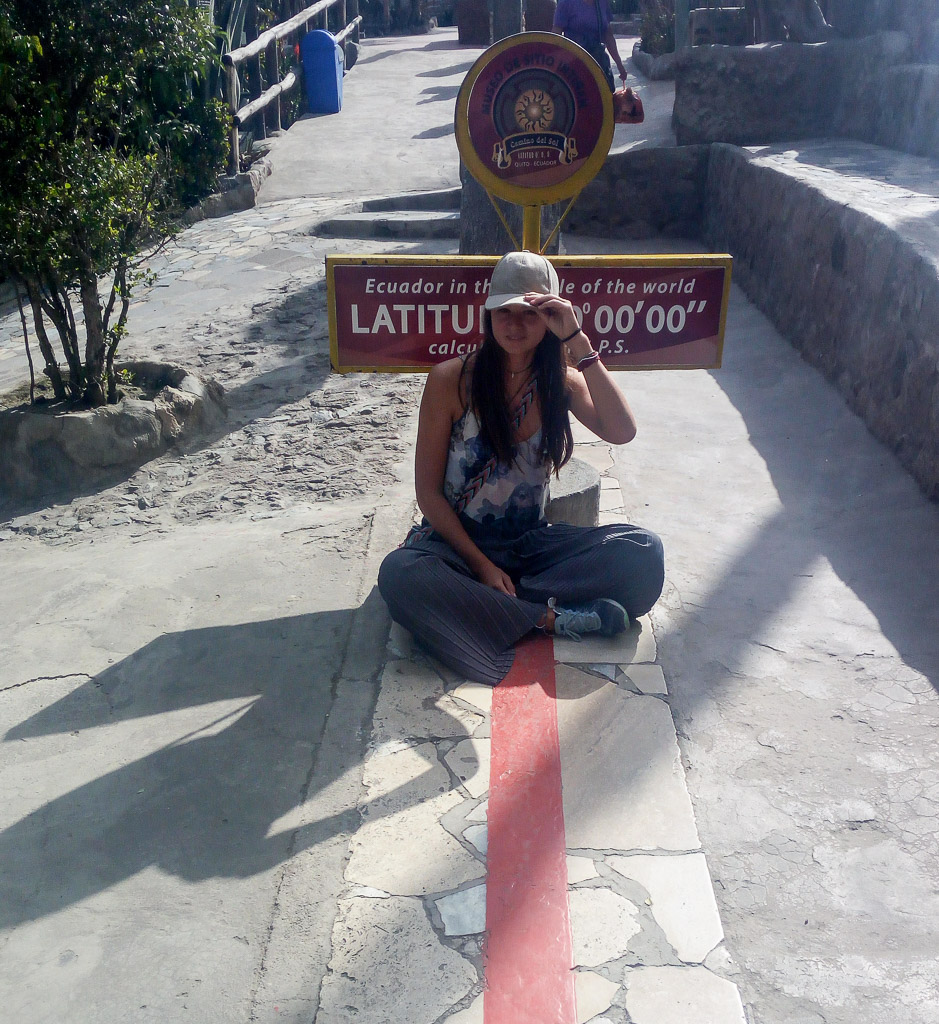 Mitad del mundo Ecuador the centre of the world