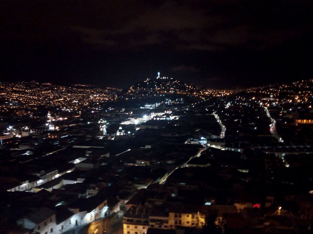 Quito by night view Ecuador