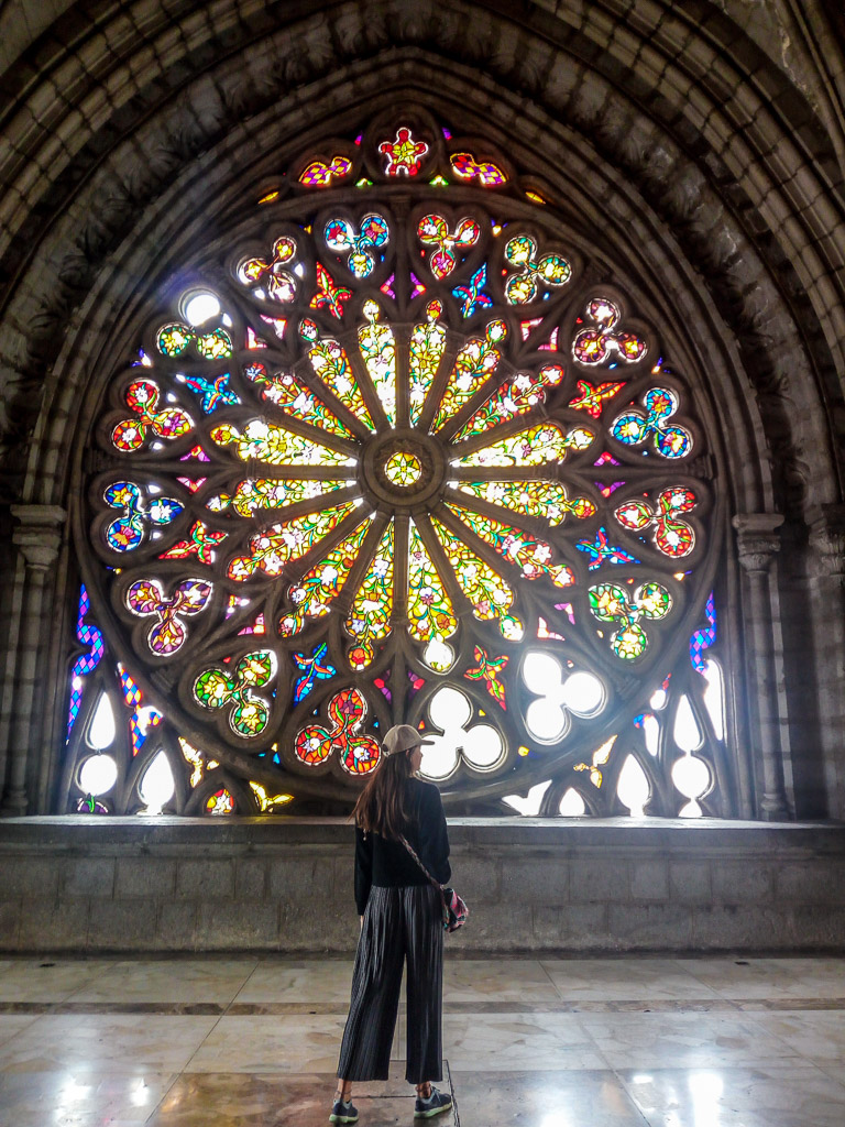 Basilica church Ecuador Quito amazing window