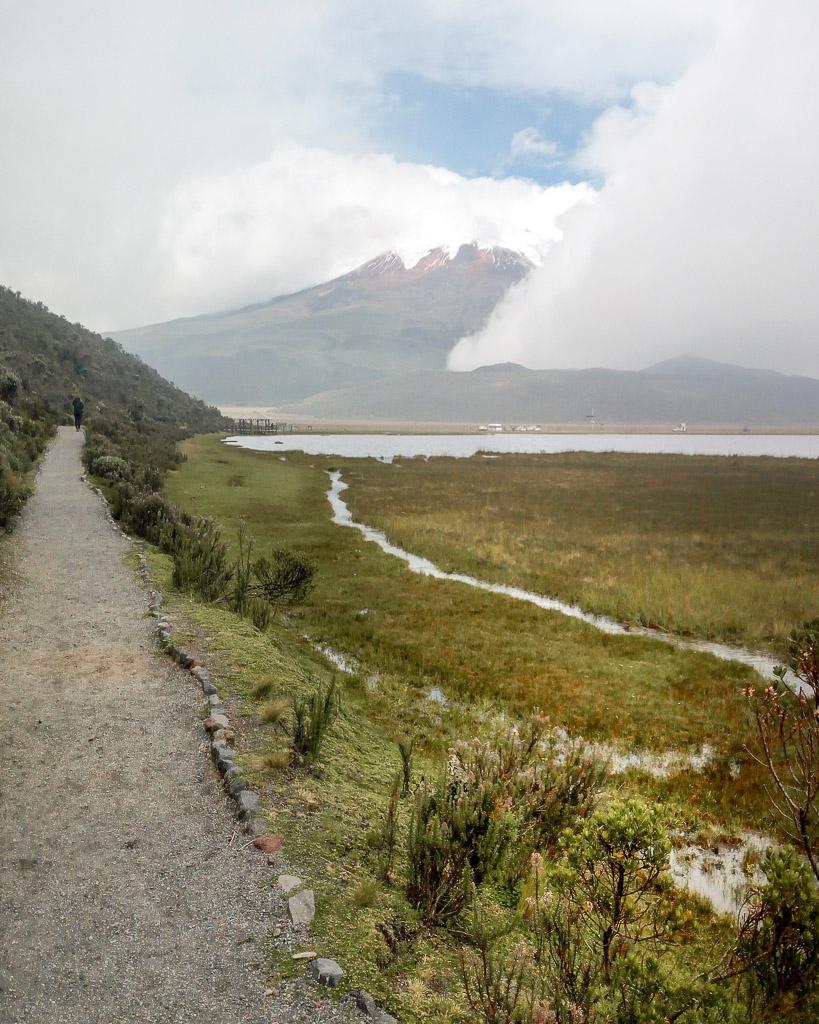 Hiking Volcano Cotopaxi Ecuador Quito Limpiopungo lagoon
