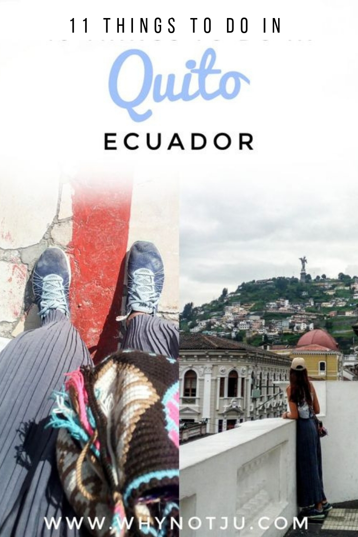 Quito, captial of ecuador and the world? 11 things to do in Quito as a backpacker, all low cost, and worth checking out if you plan a visit.